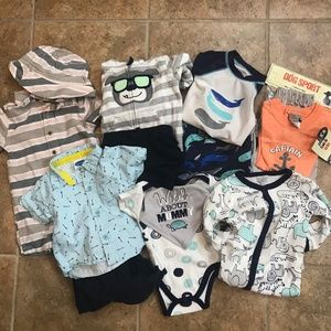 16 Piece Lot of 3-6 Month Boys Clothes, Some NWT